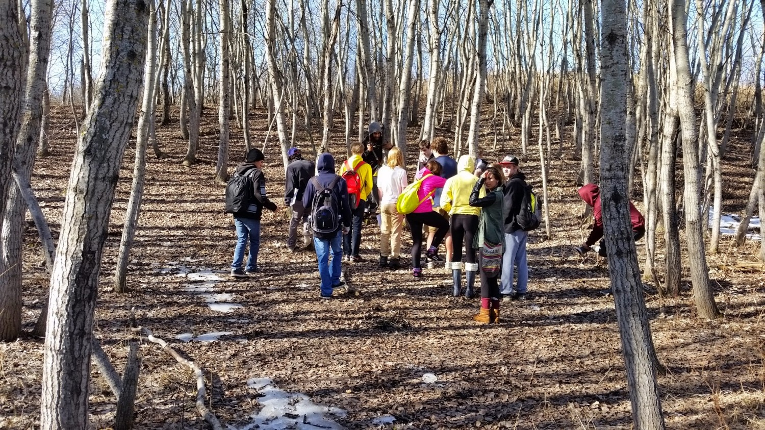 Marion Graham Environmental Science 20 Class goes to Brighwater