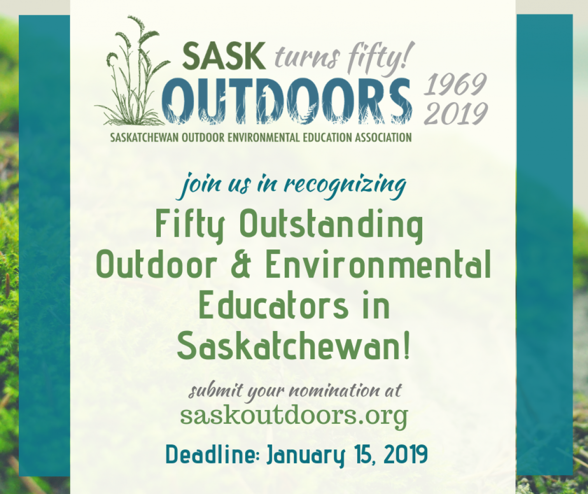 SaskOutdoors is turning 50 in 2019!