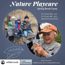 SaskOutdoors is subsidizing the cost for Indigenous, newcomer and low income families. Registration is now open at www.wildernook.com for this spring break program (April 23-26th. #nearbynature #natureplay #meaningfulwork