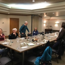 Community conversations earlier this month in Swift Current. We talked late into the night!