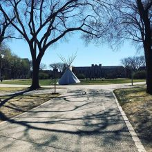The tipi meeting space is up! Thank you Ace Lafond for making it happen :) #eecom2019
