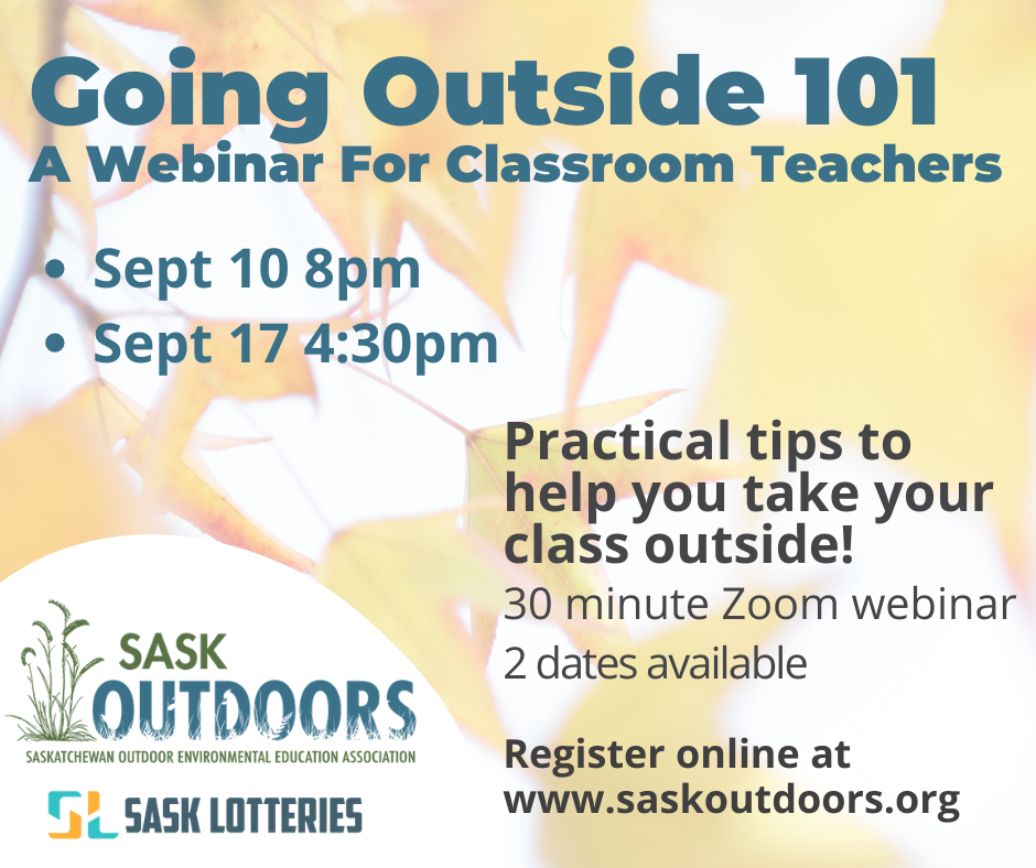 Going Outside 101: A Webinar for Classroom Teachers (September 10)