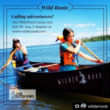 #Repost from earlier this summer  @wildernook - check their feed for how it all went down! ・・・ In case you haven't heard, there's a group of determined, intelligent and playful young women spending the week immersed in nature together. Their ins