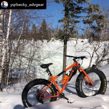 #getoutside  Posted @withrepost • @yqrbecky_advgear Northern Saskatchewan Fat biking.